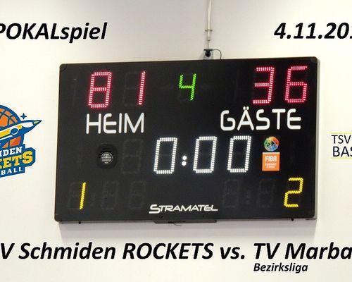 Pokalspiel TSV Schmiden Rockets - TV Marbach 2 (Bezirksliga 1)